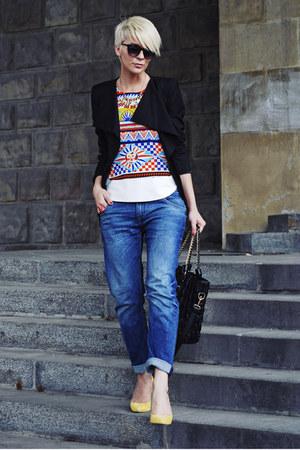 Oasapcom shirt - Zara jeans - Sheinsidecom blazer - Bershka pumps