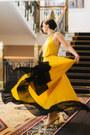 Yellow-fashion-studio-dressing-dress