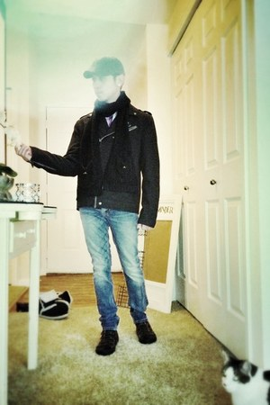 Salt Valley shirt - Aldo shoes - Guess coat - Levis jeans - hat