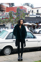 vintage clogs - black jet by john eshaya cardigan - black H&M pants - black Gee