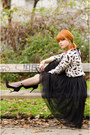 Insect-print-topman-sweater-midi-ballerina-skirt-ankle-strap-buffalo-heels