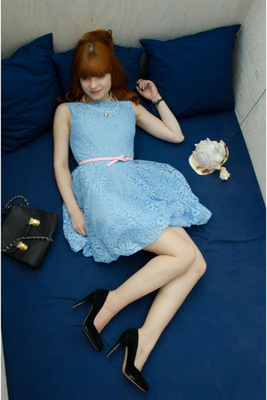 blue bubble dress - bubble gum skinny Primark belt