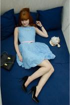 blue bubble dress - bubble gum skinny Primark belt