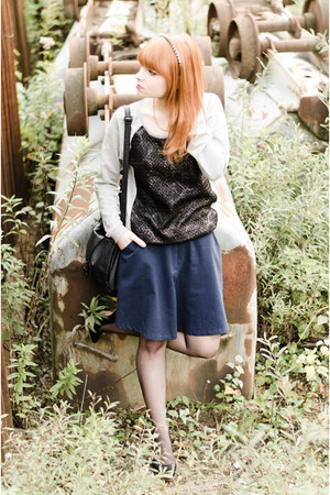 Vila sweater - nowIStyle skirt - Miista heels