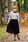 Insect-print-topman-sweater-midi-ballerina-skirt-ankle-strap-buffalo-heels