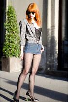 chambray ASOS Menswear shirt - lucite Miista heels