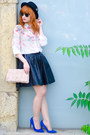 Floral-print-persun-shirt-ray-ban-sunglasses-faux-leather-review-skirt