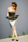 Faux-leather-h-m-dress-christian-dior-sunglasses-silver-metallic-h-m-skirt