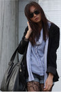 Black-h-m-blazer-silver-american-apparel-scarf