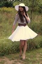 white skirt - dark khaki Forever 21 top