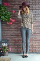 H&M jeans - H&M hat - H&M blouse - new look flats