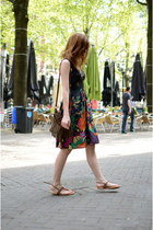 H&M dress - brandy melville bag - new look flats