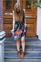 cafe moda boots - H&M dress
