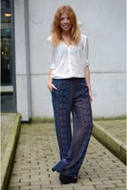 Zara pants - Mango blouse - H&M heels