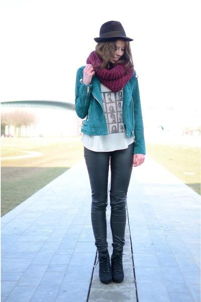 Mango jacket - H&M pants - Primark heels - brandy melville top