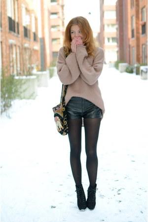 Topshop sweater - H&M shorts - Primark heels
