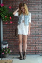 H&M blouse - Zara boots