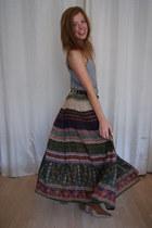 vintage skirt - H&M top