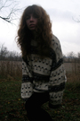 American-apparel-leggings-goodwill-sweater-vintage-boots-vintage-necklace