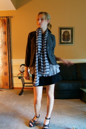 joe fresh style blazer - forever 21 top - American Apparel skirt - no idea shoes