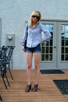 joe fresh style shirt - forever 21 shorts - Aldo shoes