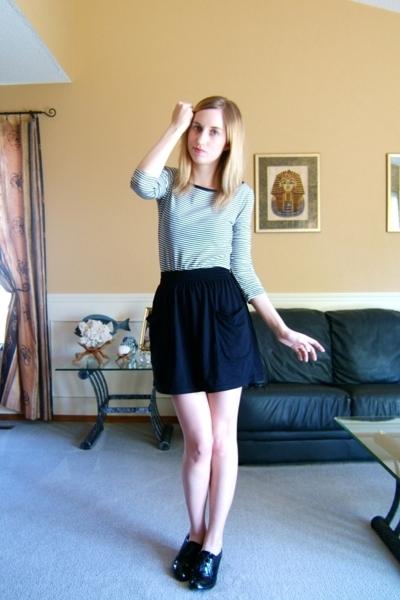 joe fresh style shirt - American Apparel skirt - Steve Madden shoes