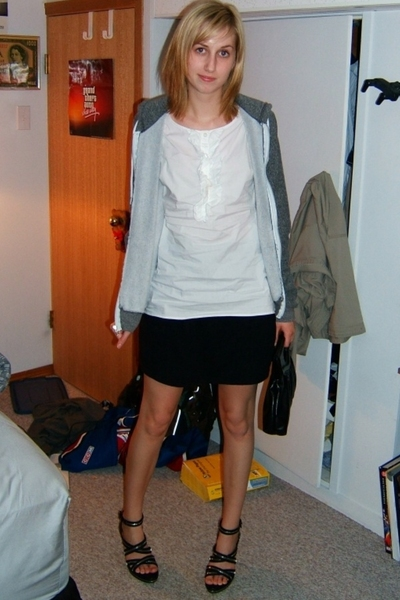 Old Navy top - American Apparel skirt - American Apparel sweater - no idea shoes