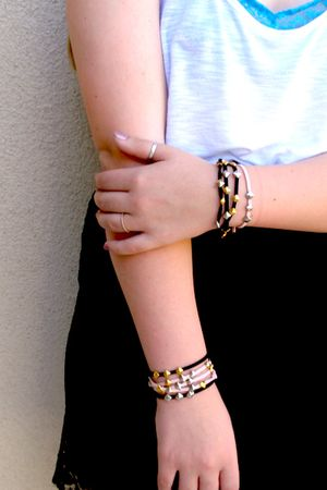 black five and two bracelet - pink five and two