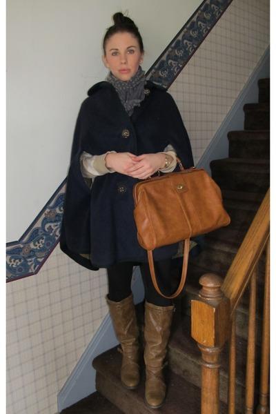 brown LEI boots - black Forever 21 leggings - gray Old Navy scarf - tawny Aldo b