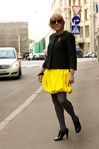 COS dress - COS coat - united colors of benetton tights - carlo pazolini heels