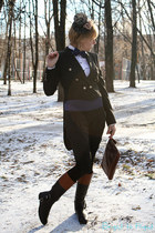 neutral Accessorize hat - brick red Ralph Lauren boots - black Zara coat