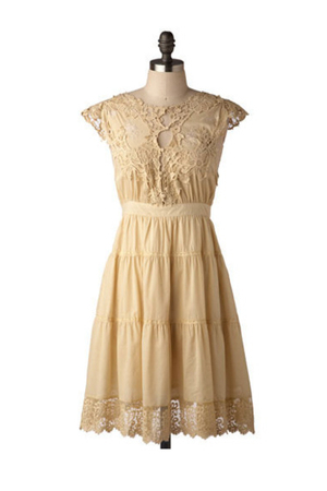 beige modcloth dress
