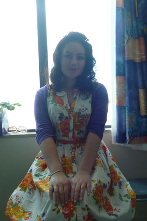 orange floral Dorothy Perkins dress