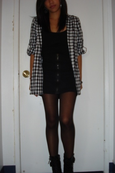 Sophomore skirt - skirt - American Apparel tights - guess by marciano shoes
