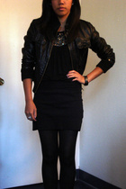 Forever21 jacket - Forever21 top - American Apparel skirt - HUE tights - tiffany