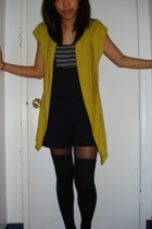 sogo vest - American Apparel top - Forever21 stockings