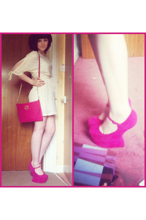 River Island dress - River Island bag