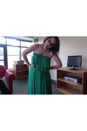 teal maxi dres Target dress