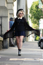sheer black Urban Outfitters jacket - top peter pan Zara top