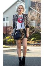 Handbag Heaven bag - Zara blazer - Wildfox top