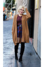 Urban-outfitters-cardigan-red-american-apparel-top