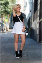 white tennis American Apparel skirt - nike sneakers
