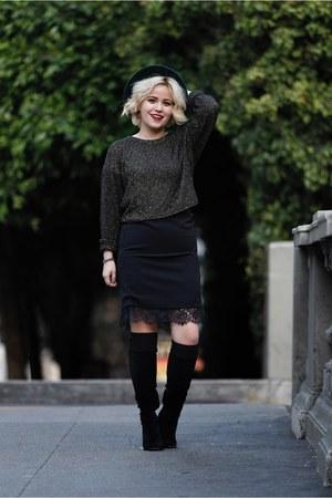Zara sweater - Forever 21 skirt