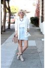 White-h-m-blazer-light-pink-zara-bag-light-blue-american-apparel-skirt