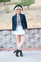 white skirt American Apparel skirt - Forever 21 top