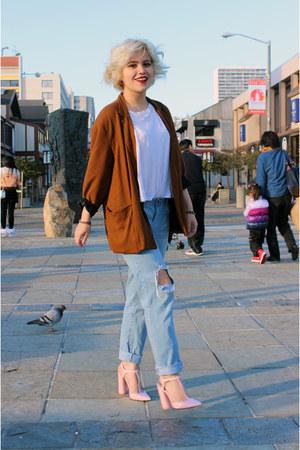 white t-shirt Alexander Wang t-shirt - jeans boyfriend Forever 21 pants