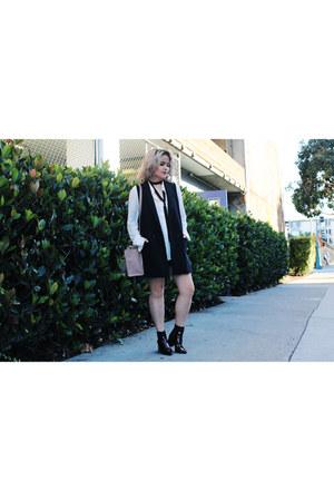 skirt bottom Zara skirt - vest black banana republic top