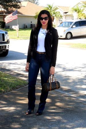 INC blazer - Vince Camuto boots - Tru Luxe Jeans jeans - Louis Vuitton bag