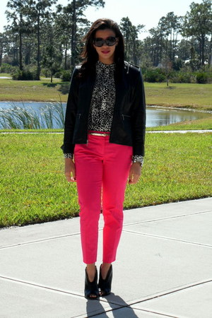 Target blouse - Vince Camuto boots - Kenneth Cole jacket
