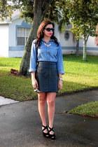 Zara skirt - Target shirt - Gucci bag - Michael Kors sunglasses